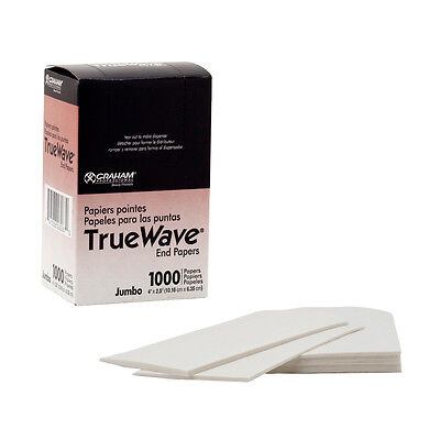 Graham Professional TrueWave Salon Hair Perm END PAPERS True Wave 1000 CT Jumbo