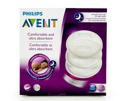Avent - Disposable Night Breast Pads - 20 Pack  - Brand New Boxed - Baby