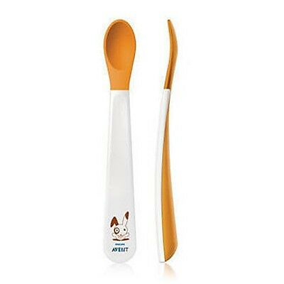 Avent - Weaning Spoons - 6m+ - 2 Pack - Soft Tip, Gentle On Gums - Brand New