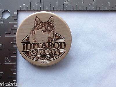 Alaska 2000 Iditarod Sled Dog Race Wooden (Solid Birch) Collectors Pin
