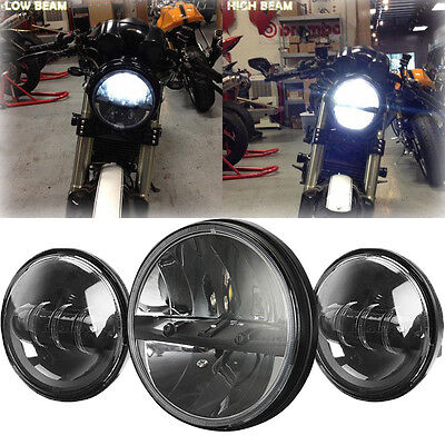 """Motorcycle 7"""" LED Daymaker Headlight Passing Light for Harley Davidson Touring"""