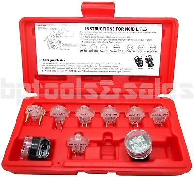 9pc Electronic Fuel Injection Noid Light Test Signal Set Tester GM Ford Bosch