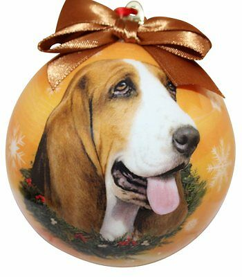 Basset Hound Christmas Ball Ornament Dog Holiday Xmas Pet Lovers Gift