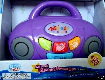 Children's Musical Boom Box Player,w/ Lights,sounds,tunes,color: Purple,3+,new