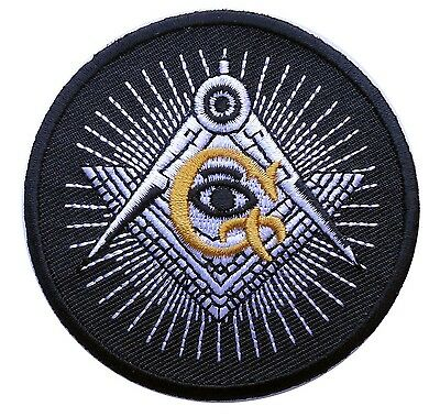 Masonic Square Compass G Eye Emroidered Iron On Patch
