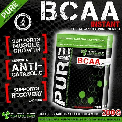 Bcaa Powder 200G Instantised Unflavoured Branch Chain Amino Acids Intra Workout