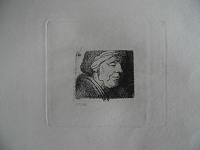19th Century Rembrandt Engraving Portrait  Head of an Old Woman. Armand Durand