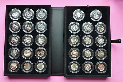 2012 London Olympic Silver Sports Collection 50P Complete 29 Bu Coin Set