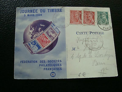 FRANCE - carte 1er jour 5/3/1939 (journee du timbre) (cy69) french