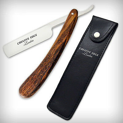 Wood Barber Classic Straight Razors Cut Throat Wet Shaving SHAVE READY