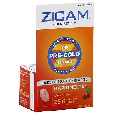 Zicam Cold Remedy RapidMelts, Cherry 25 ea (Pack of 9)