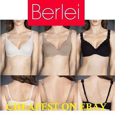 Berlei Barely There Luxe Lace Contour Bra Womens Black Cafe Mocha Ivory Y296T