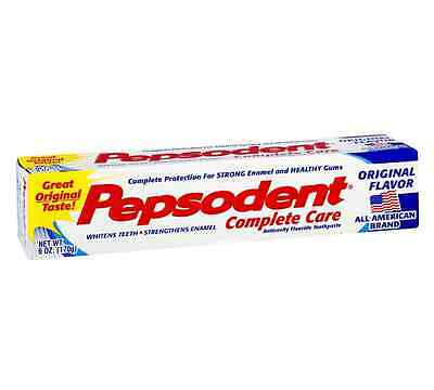 Pepsodent Complete Care Toothpaste Original Flavor 6 oz (Pack of 6)