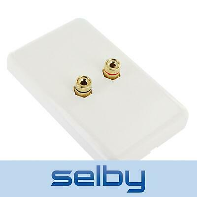 Selby Premium Speaker Cable Wall Plate Wallplate for 1 Speaker