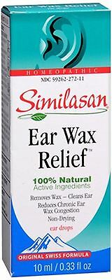 Similasan Ear Wax Relief Ear Drops 10 mL (Pack of 3)