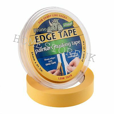 Ultratape Edge Painters Clean Line Masking Tape Multi Surface Low Tack Yellow