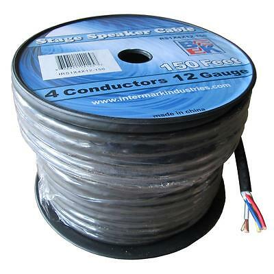 Blastking 12AWG Gauge 4 Conductor 150' Ft Stage Speaker Cable Wire -RS1x4x12-150