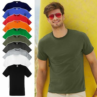 5er Pack tailliertes T-Shirt FRUIT OF THE LOOM Fitted Valueweight 61-200-0, NEU