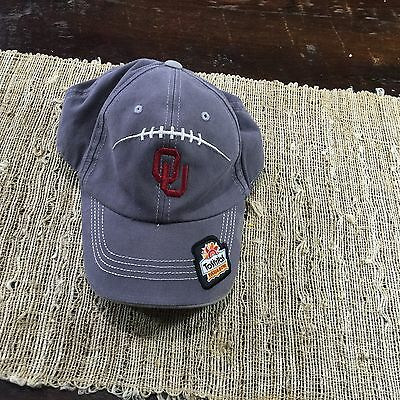 Oklahoma Sooners Tostitos Fiesta Bowl Gray Team Issued Cap Hat One Size Fits All