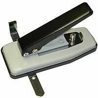 TruLam Id Card Badge Slotted Hole Punch with Side and Depth Guides Desktop Card