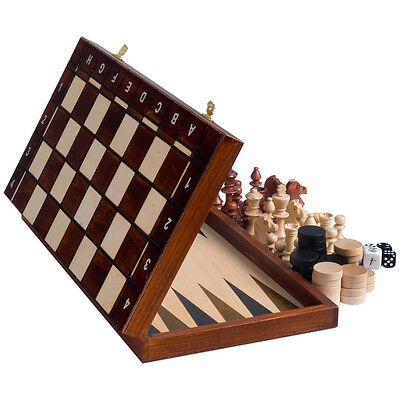 Senator European Chess, Checkers and Backgammon Set
