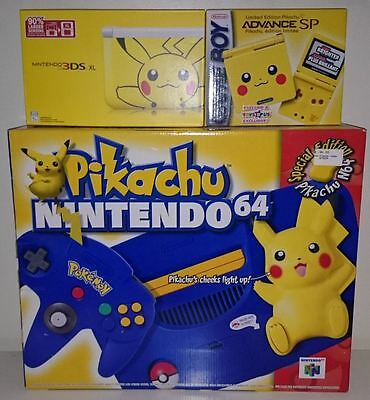 New Pikachu Gameboy Advance Sp Toys R Us Exclusive N64 3ds Xl