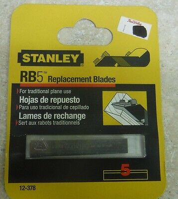 Stanley RB5 Replacement Blades 12-378 Pack of 5 Blades.  NOS 2003