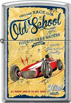 Zippo Old School Vintage Fourth Gear Race Club Street Chrome WindProof Lighter