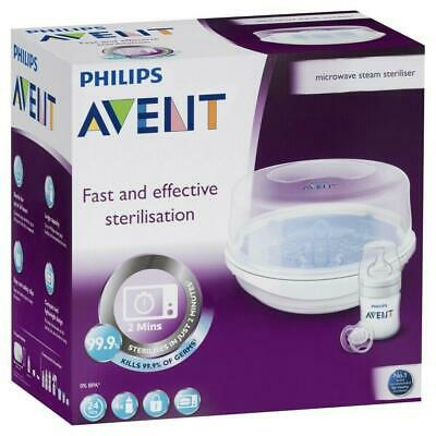 Avent - Microwave Steriliser - 4 bottles in 2 minutes - Steam Steriliser - New
