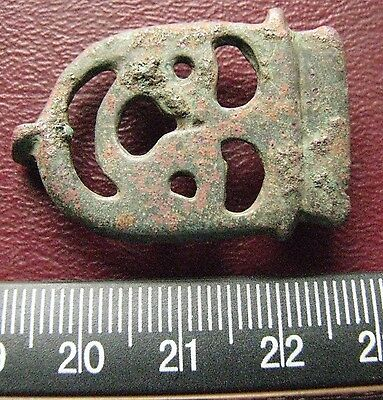 Authentic Ancient Artifact > 8th Century Byzantine Bronze belt buckle 13388