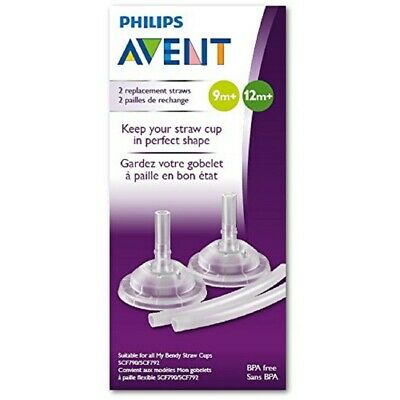 Avent - Replacement Straw Set for Dinosaur Straw Cup - 2 pack - Brand New