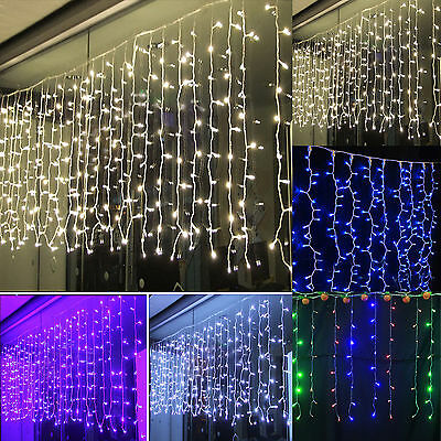 4M Christmas LED String Net Lights Lamp Outdoor Fairy Party Decor Curtain Icicle