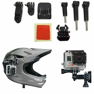 Adjustment Curved Adhesive Helmet Side Mount Kit For GoPro HD Hero 1 2 3 3+ Pack