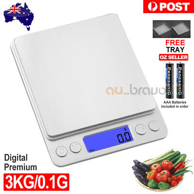 3kg/0.1g Kitchen Digital Scale LCD Electronic Balance Food Weight Postal Scales