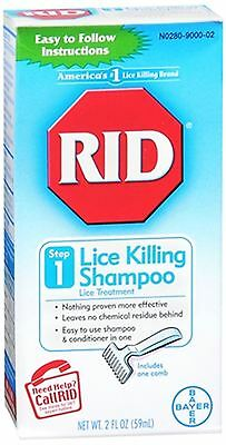 RID Lice Killing Shampoo 2 oz (Pack of 6)