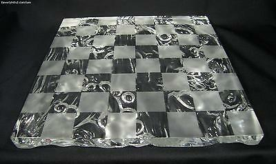 Saint St Louis Cut Etched Crystal Glass Checker/Chess Board
