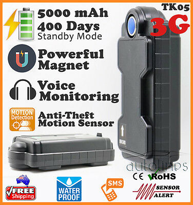 3G Waterproof Magnetic Portable GPS TRACKER 5000mAh Realtime Theft Car Vehicle