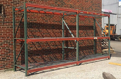 Used Teardrop Pallet Rack Shelving Racking channel scaffolding 5 sections.