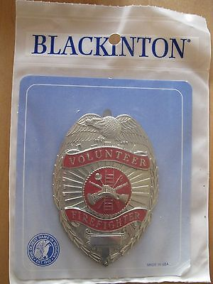 Blackinton Volunteer Frefighters Badge Red Seal - Gold Or Silver
