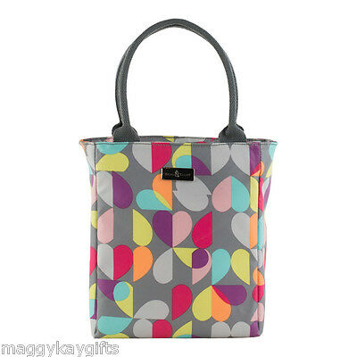 Insulated Lunch Tote Bag - Water Bottle Flask Grey Thermos Picnic Beau & Elliott