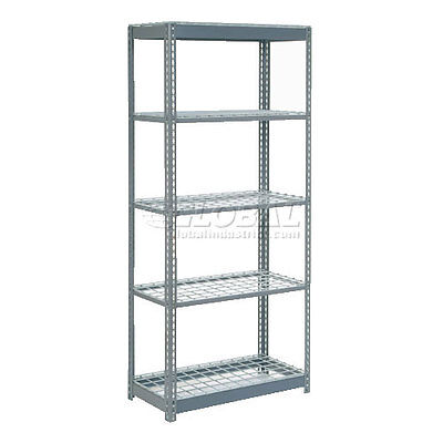 """Heavy Duty Shelving 36""""W x 18""""D x 84""""H With 5 Shelves, Wire Deck"""
