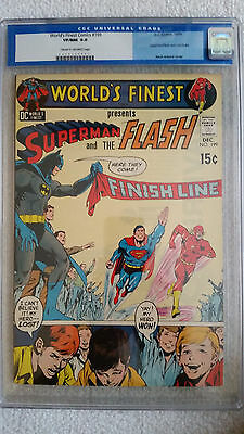 Worlds Finest #199 CGC 9.0 VF/NM   3rd Superman vs Flash Race   Neal Adams Cover