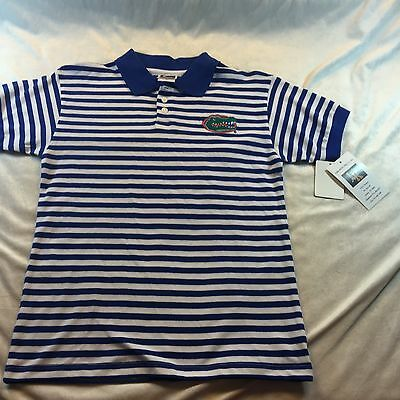 Youth Florida Gators Game Day Polo By Little Kings Apparel NWT Striped Sz Medium