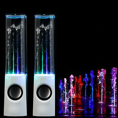 LED Dancing Water Light Speakers Show Music Fountain for Phones Computer Laptop