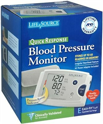 LifeSource Quick Response Blood Pressure Monitor UA-787EJ 1 Each (Pack of 8)