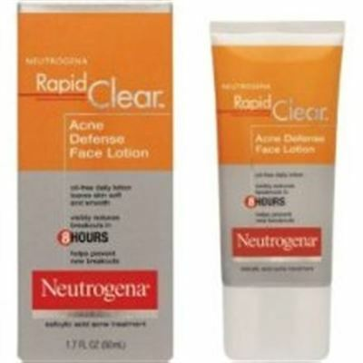 Neutrogena Rapid Clear Acne Defense Face Lotion 1.70 oz (Pack of 2)