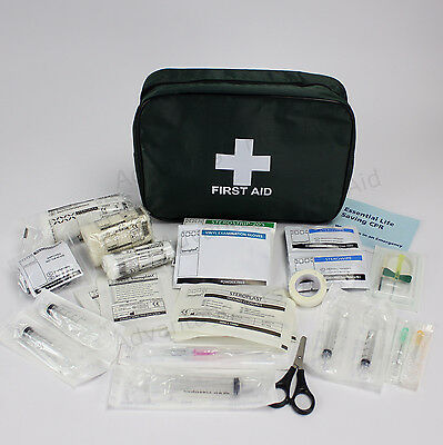 Overseas International Travel Medical First Aid Kit in Bag with Sterile Needles