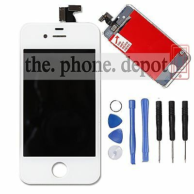 White Repalcement For iPhone 4S LCD Display Screen Touch Digitizer Assembly UK