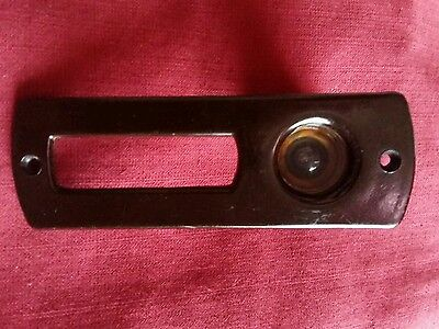 Vintage Excellent condition Brown Bakelite Peephole Door With stand 1930s