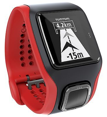 TomTom Rechargeable GPS Cardio Runner and Heart Rate Monitor - Black and Red.